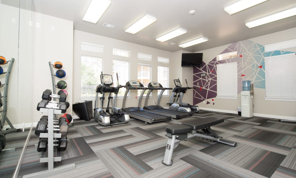 Fitness center at Fountain Lake in Edmond, Oklahoma
