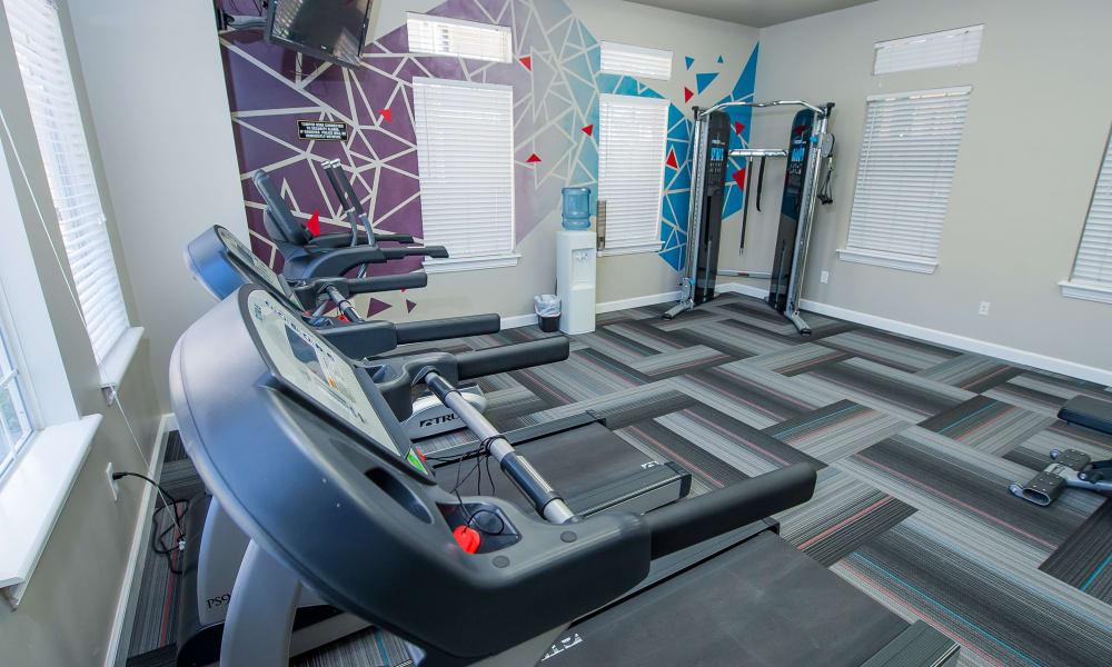 Treadmills at Fountain Lake in Edmond, Oklahoma