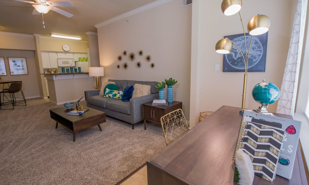 Lovely living room at Lexington Park Apartment Homes in North Little Rock, Arkansas