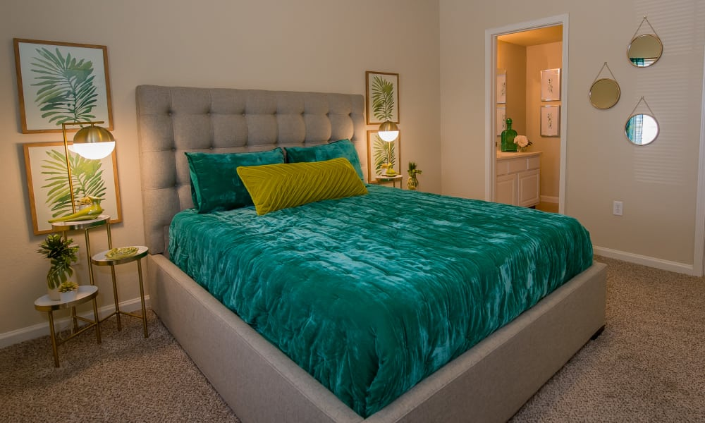 Luxury bedroom at Lexington Park Apartment Homes in North Little Rock, Arkansas