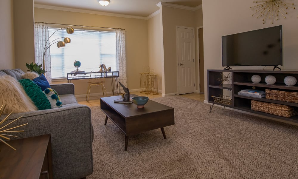 Beautifully furnished living room at Lexington Park Apartment Homes in North Little Rock, Arkansas
