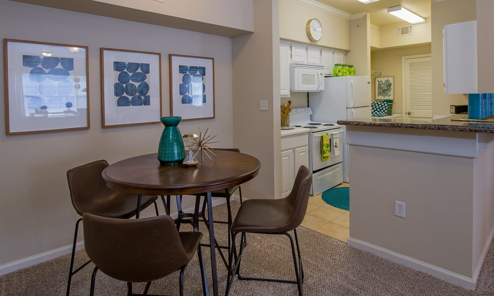 Resident's dining room at Lexington Park Apartment Homes in North Little Rock, Arkansas