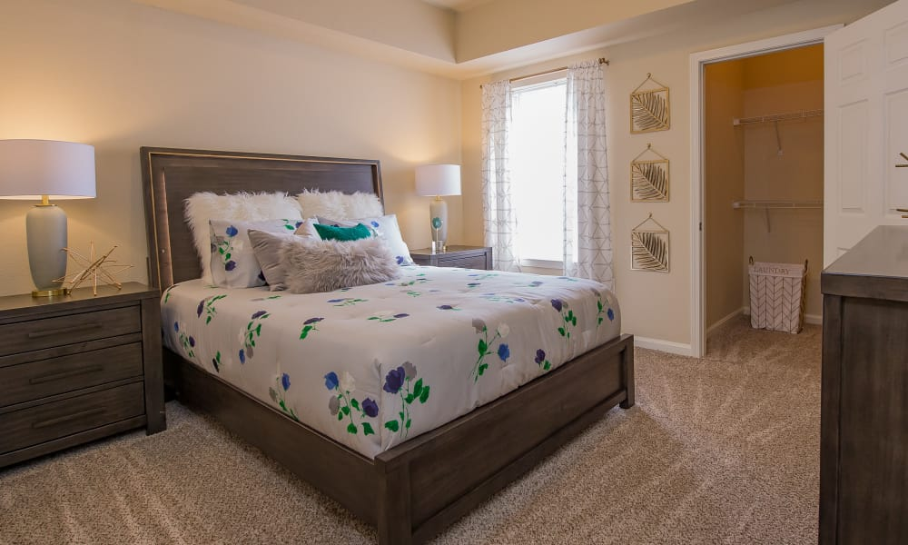 Spacious bedroom at Lexington Park Apartment Homes in North Little Rock, Arkansas