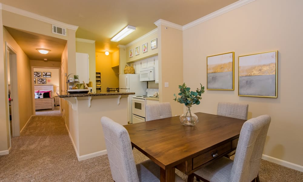 Resident's cozy dining room at Lexington Park Apartment Homes in North Little Rock, Arkansas