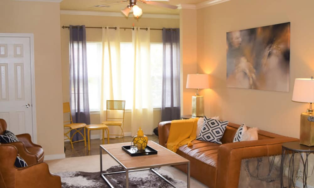 Elegant living room at Lexington Park Apartment Homes in North Little Rock, Arkansas