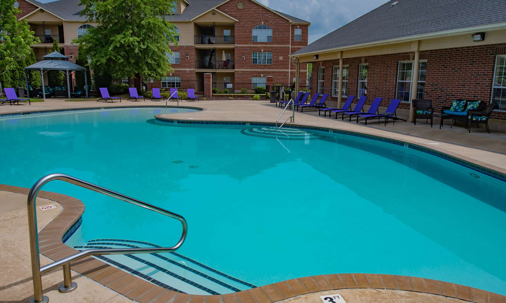 A large pool at Lexington Park Apartment Homes in North Little Rock, Arkansas