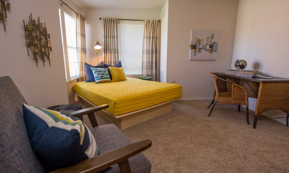 Elegant bedroom at Newport Wichita in Wichita, Kansas