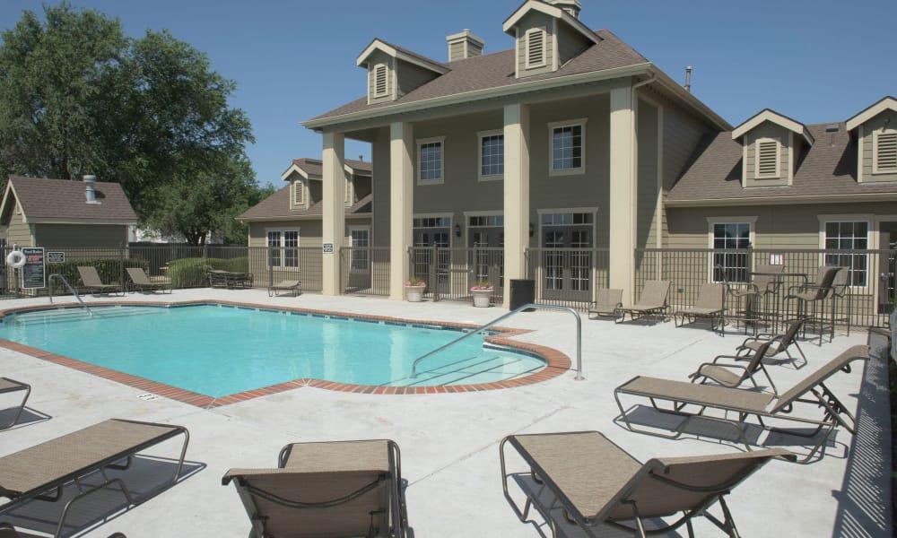 A swimming pool at Newport Wichita in Wichita, Kansas