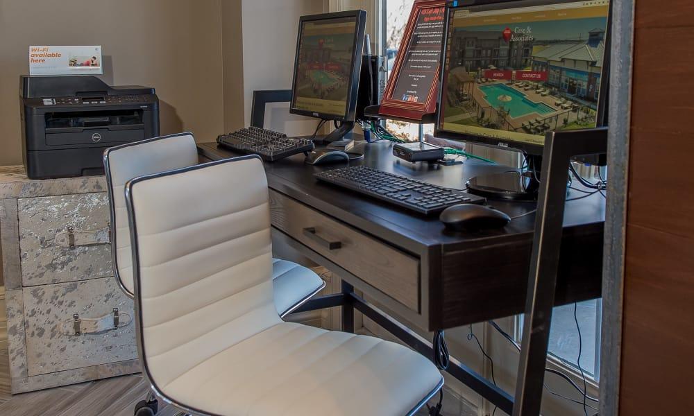 Computer room with printer access at Newport Wichita in Wichita, Kansas