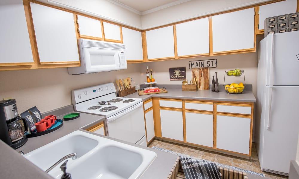Fully equipped kitchen at Newport Wichita in Wichita, Kansas