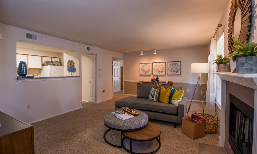 Spacious living room at Newport Wichita in Wichita, Kansas