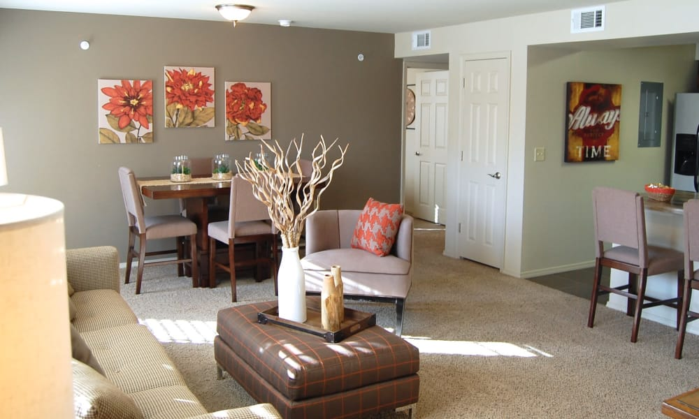 A large apartment living room at Park at Coulter in Amarillo, Texas