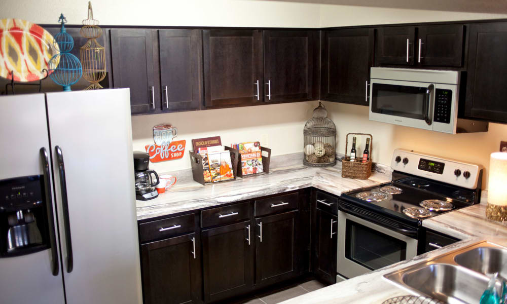 Fully equipped kitchen at Park at Coulter in Amarillo, Texas