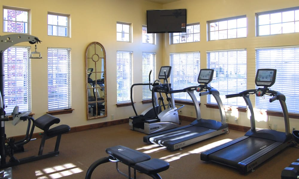 Fitness center at Park at Coulter in Amarillo, Texas