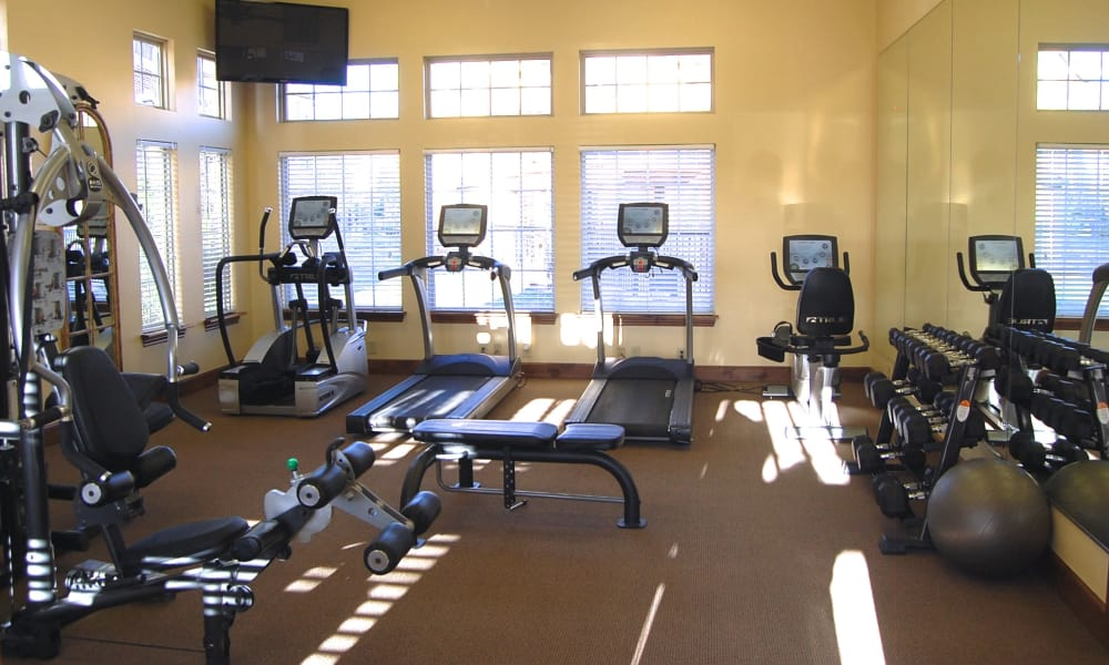 A fitness center at Park at Coulter in Amarillo, Texas