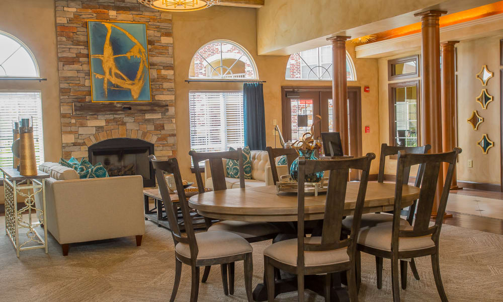 Seating in the clubhouse at Park at Mission Hills in Broken Arrow, Oklahoma