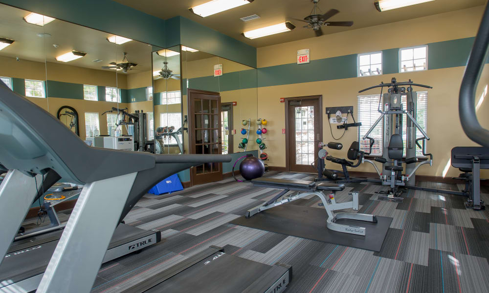 A fitness center at Park at Mission Hills in Broken Arrow, Oklahoma