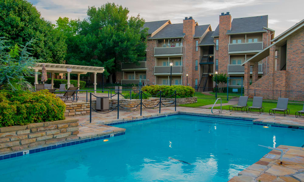 Resort style pool at One Eton Square in Tulsa, Oklahoma