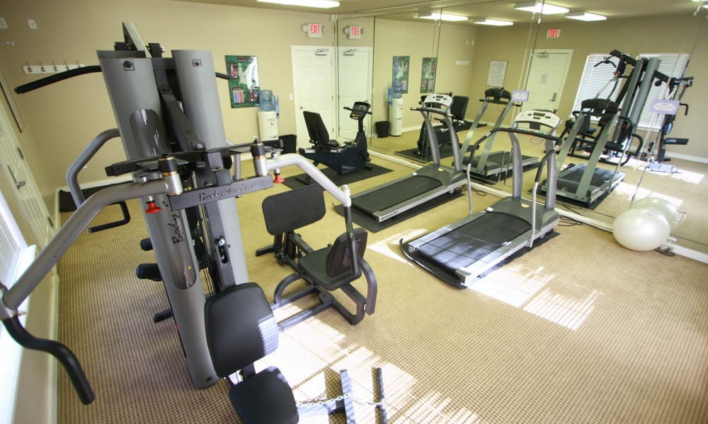 Fitness area at Remington Apartments in Amarillo, Texas