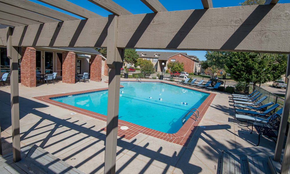 Sparkling swimming pool at Tammaron Village Apartments in Oklahoma City, Oklahoma