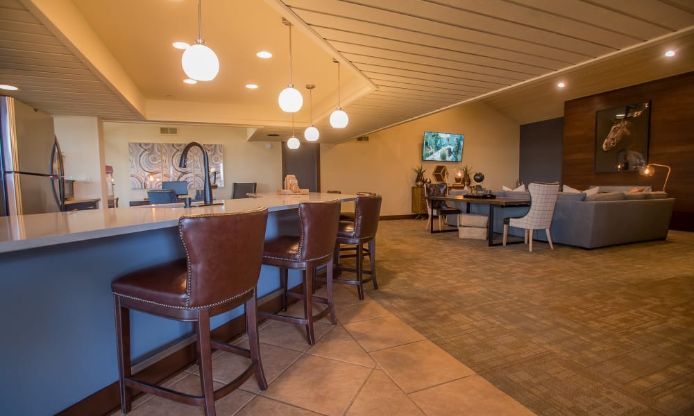 Spacious clubhouse at Sunchase Apartments in Tulsa, Oklahoma