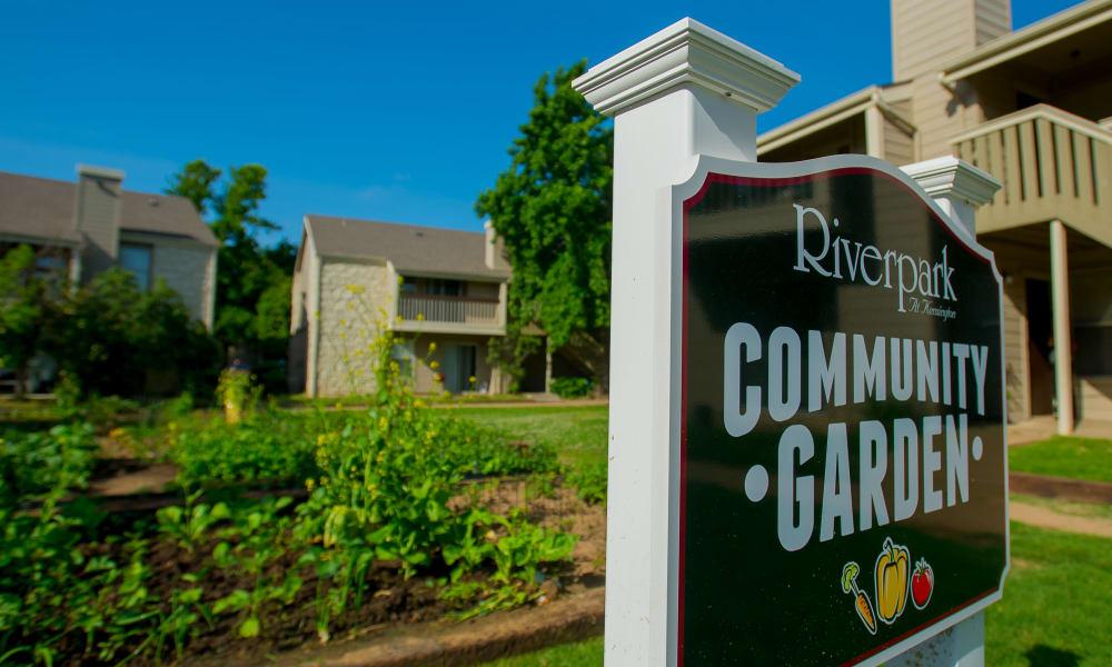 Riverpark Apartments's community garden in Tulsa, Oklahoma