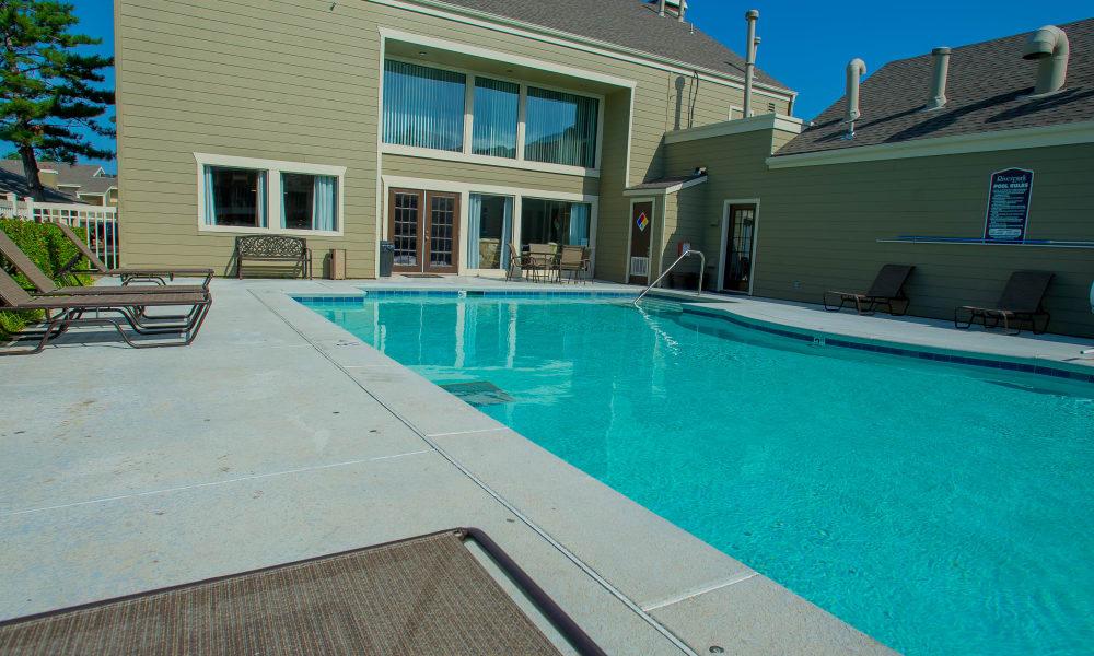 Swimming pool in Tulsa, Oklahoma at Riverpark Apartments