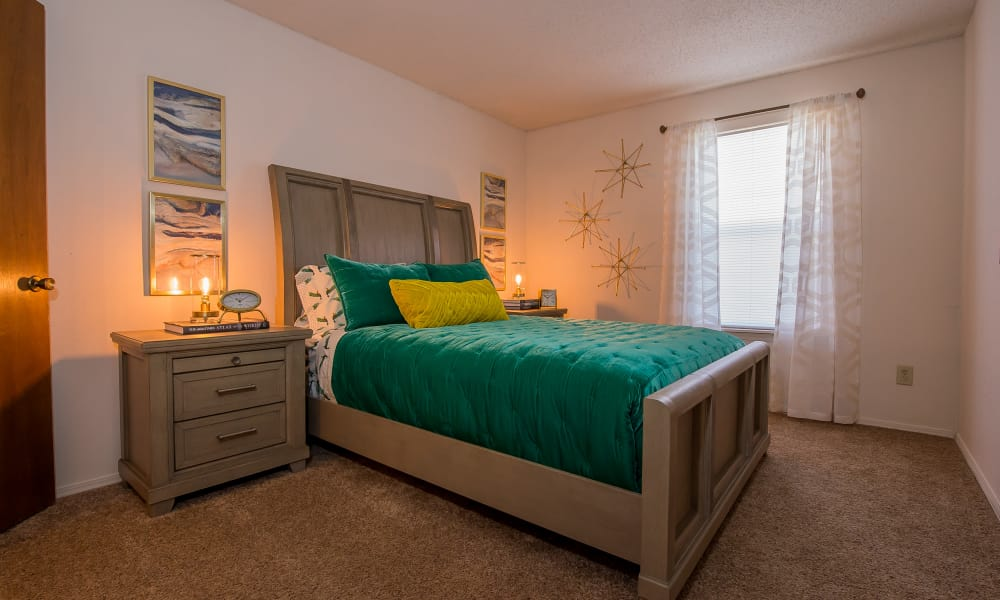 Spacious bedroom at Silver Springs Apartments in Wichita, Kansas