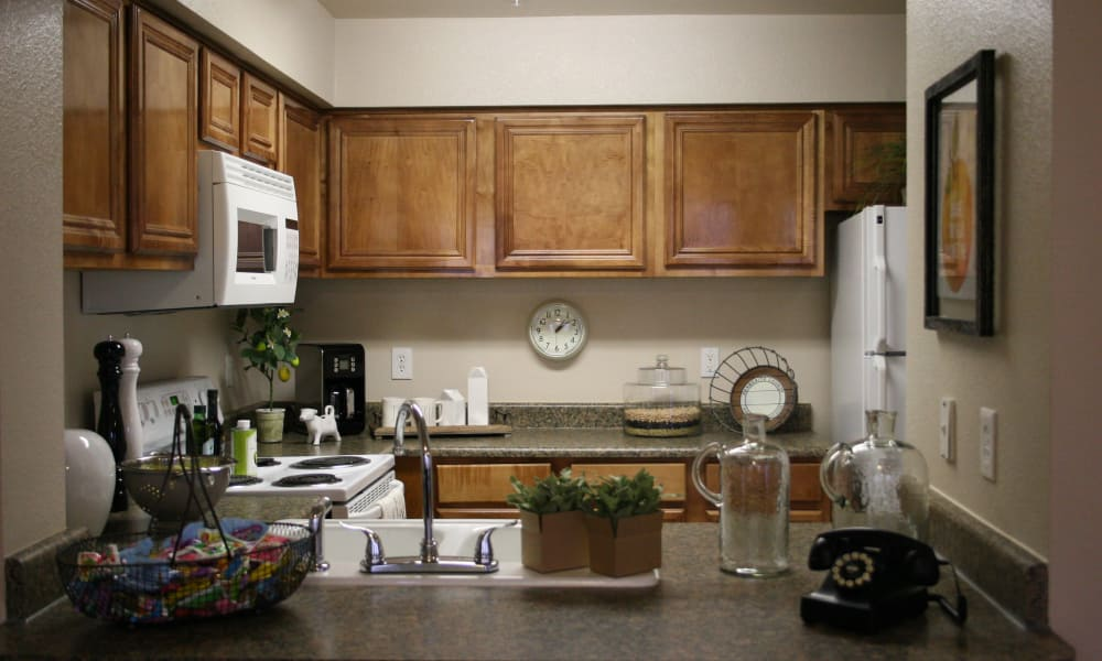 Kitchen at Remington Apartments in Amarillo, Texas