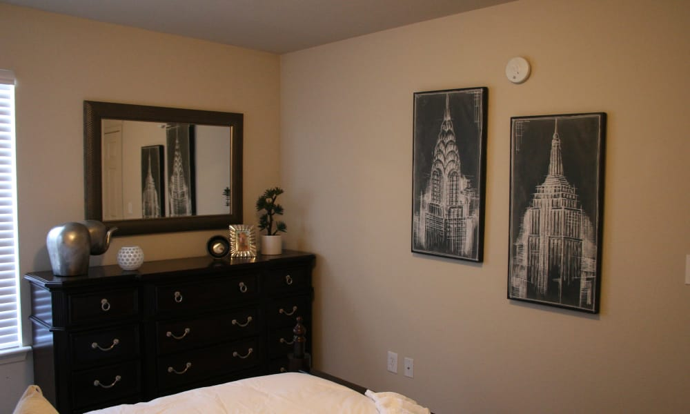 Master bedroom at Remington Apartments in Amarillo, Texas