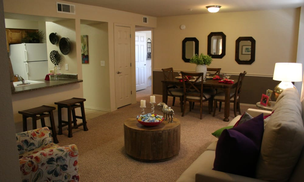 Beautiful Remington Apartments living room in Amarillo, Texas