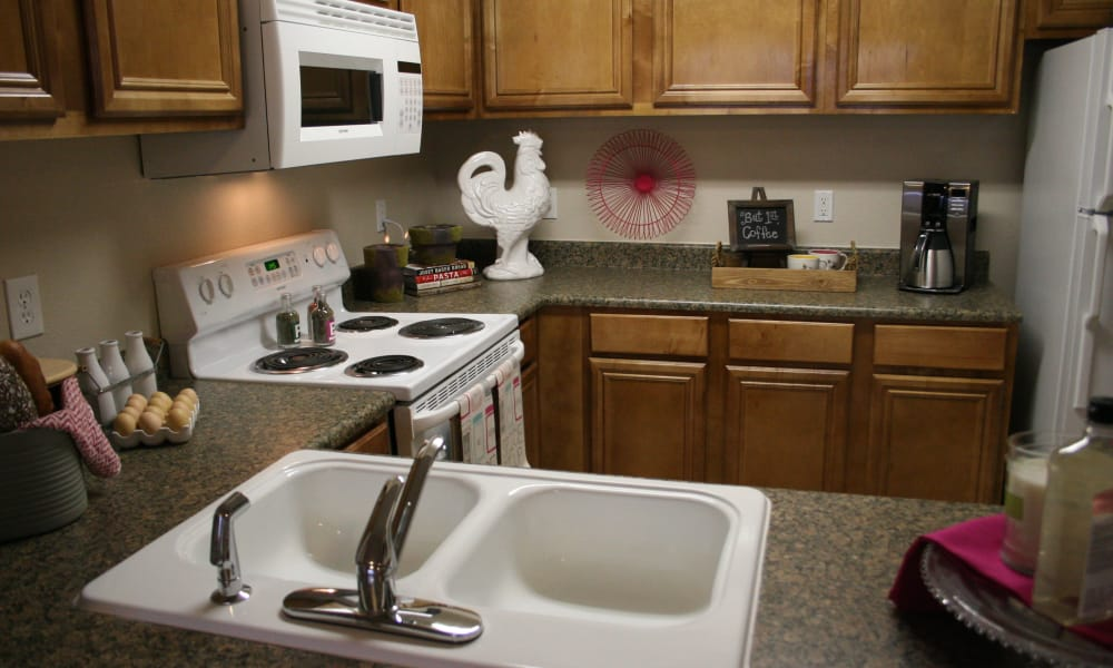Bright kitchen at Remington Apartments in Amarillo, Texas