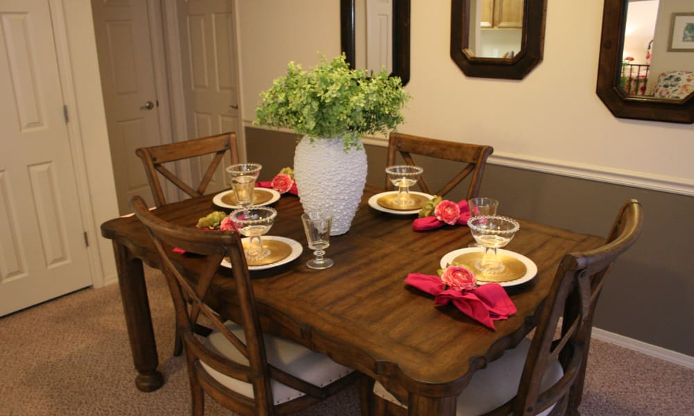Dining room at Remington Apartments in Amarillo, Texas