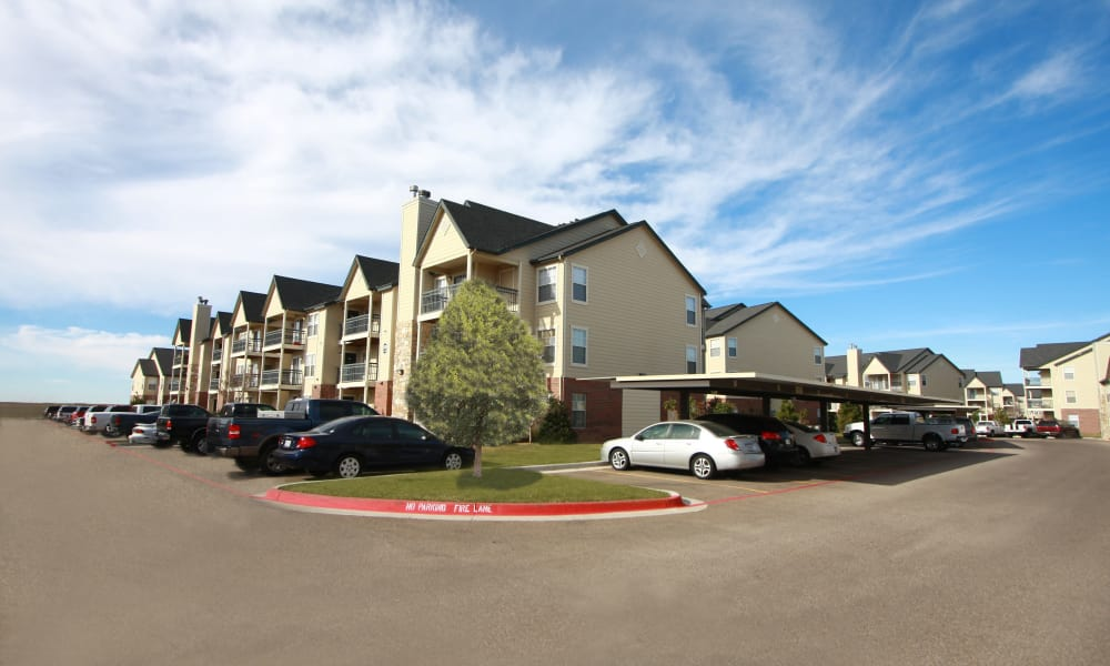 Remington Apartments covered parking in Amarillo, Texas