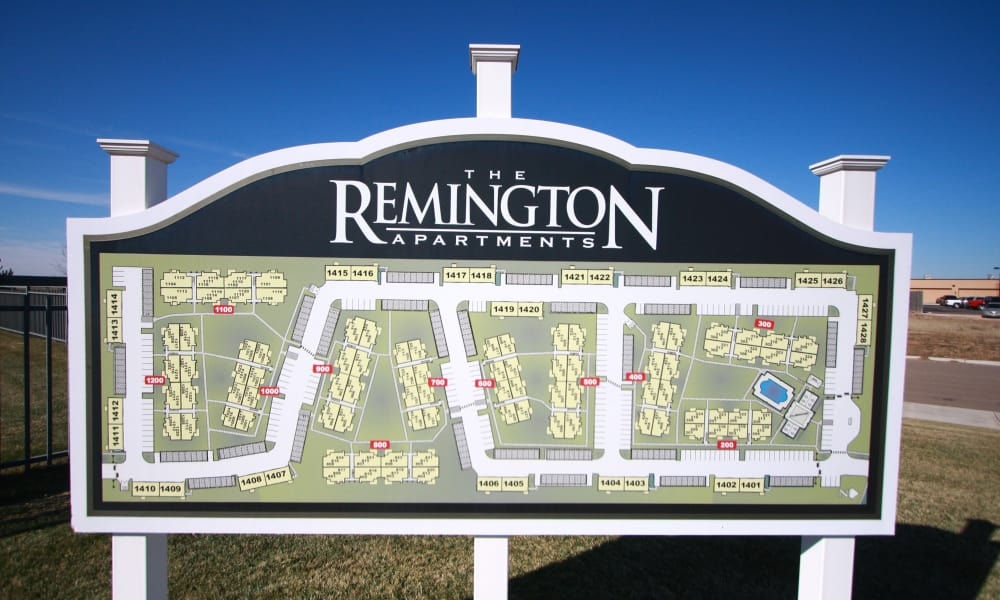 Grounds map at Remington Apartments in Amarillo, Texas