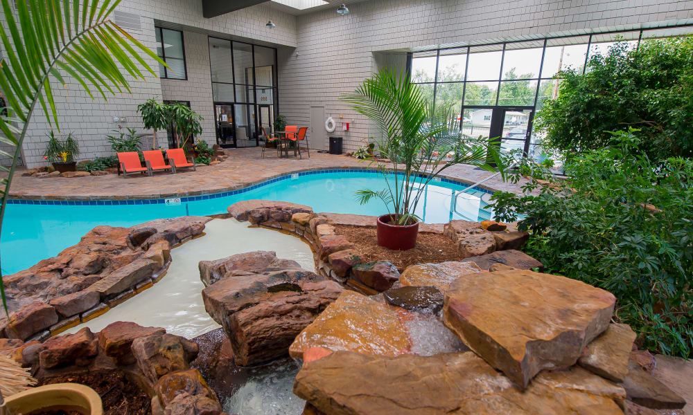 Awesome indoor pool at Silver Springs Apartments in Wichita, Kansas