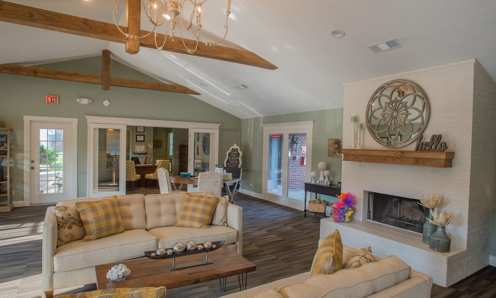 Luxurious clubhouse interior at The Greens of Bedford in Tulsa, Oklahoma