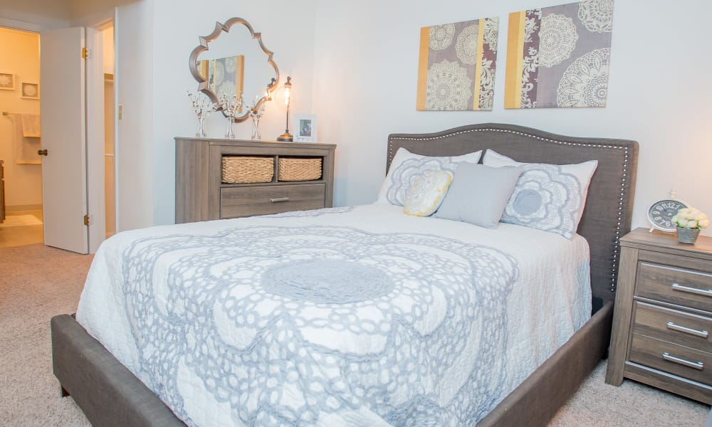 Master bedroom at The Greens of Bedford in Tulsa, Oklahoma