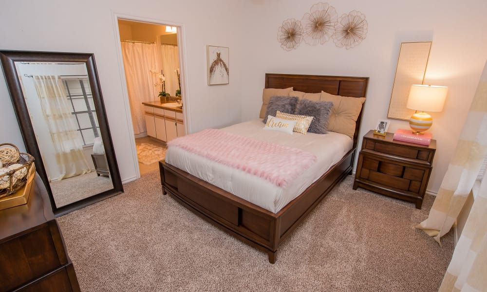 Beautiful bedroom at Arbors of Pleasant Valley in Little Rock, Arkansas