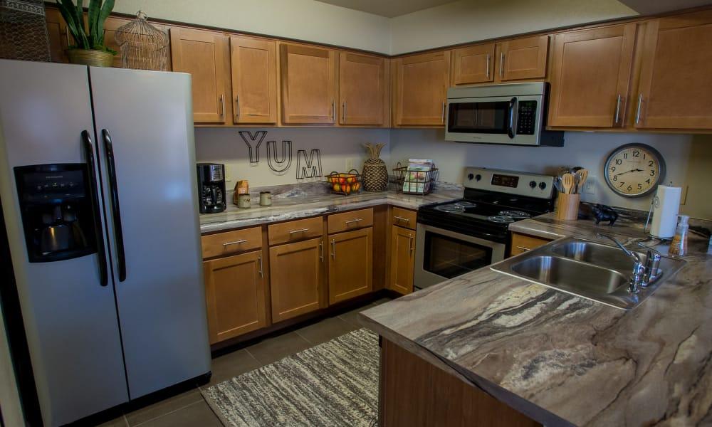 Kitchen at Villas at Canyon Ranch in Yukon, Oklahoma