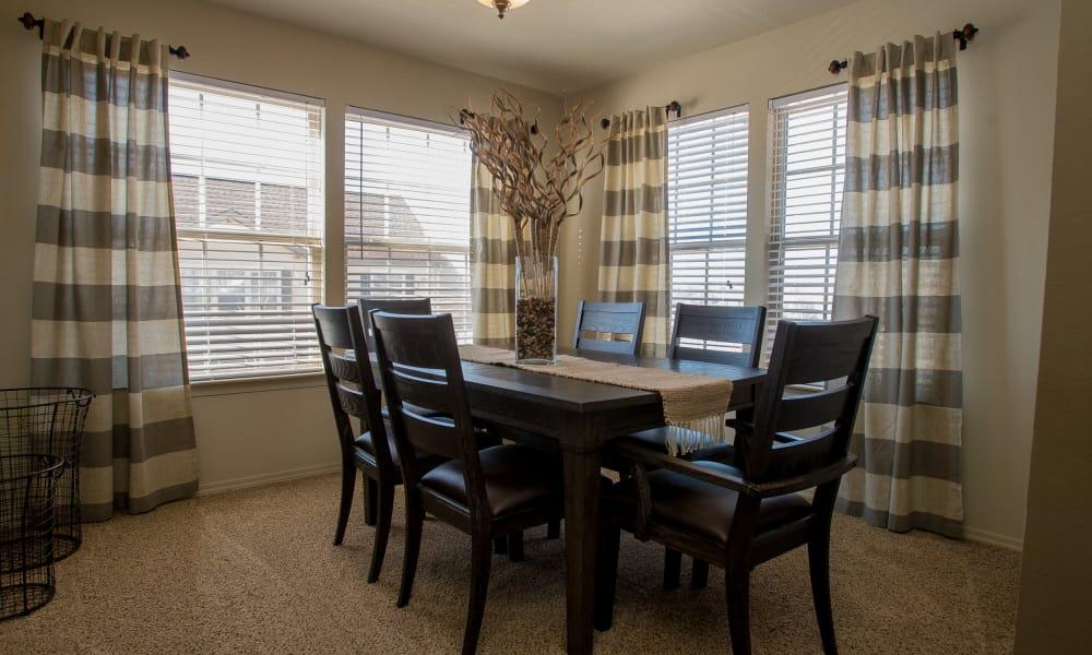 Dining room at Villas at Canyon Ranch in Yukon, Oklahoma