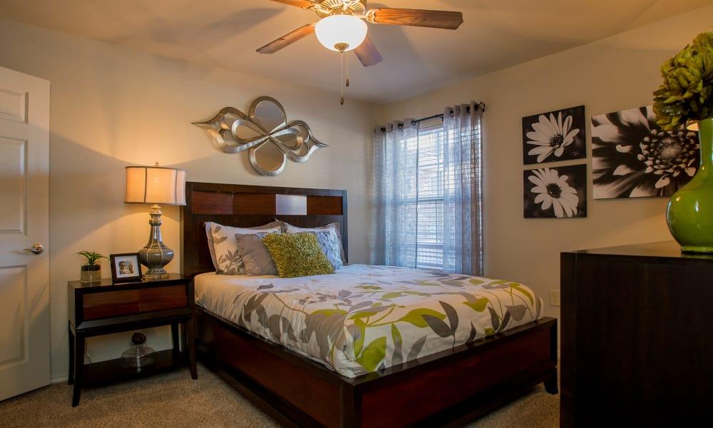 Bedroom with a view at Villas at Canyon Ranch in Yukon, Oklahoma