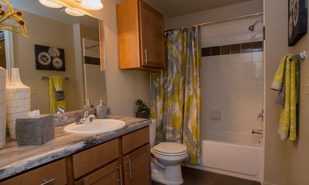 Bathroom with an extra cabinet at Villas at Canyon Ranch in Yukon, Oklahoma