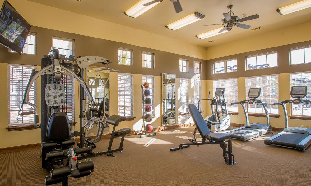 Fitness center at Villas at Canyon Ranch in Yukon, Oklahoma