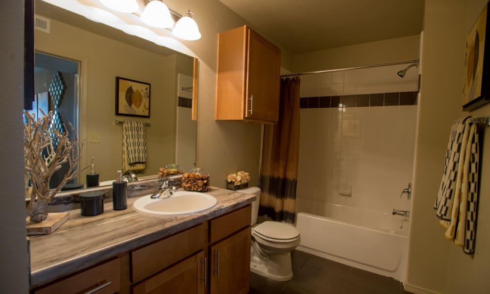 Bathroom at Cascata Apartments in Tulsa, Oklahoma