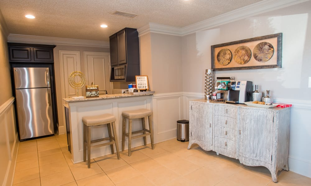 Well-lit kitchen at Cedar Glade Apartments in Tulsa, Oklahoma
