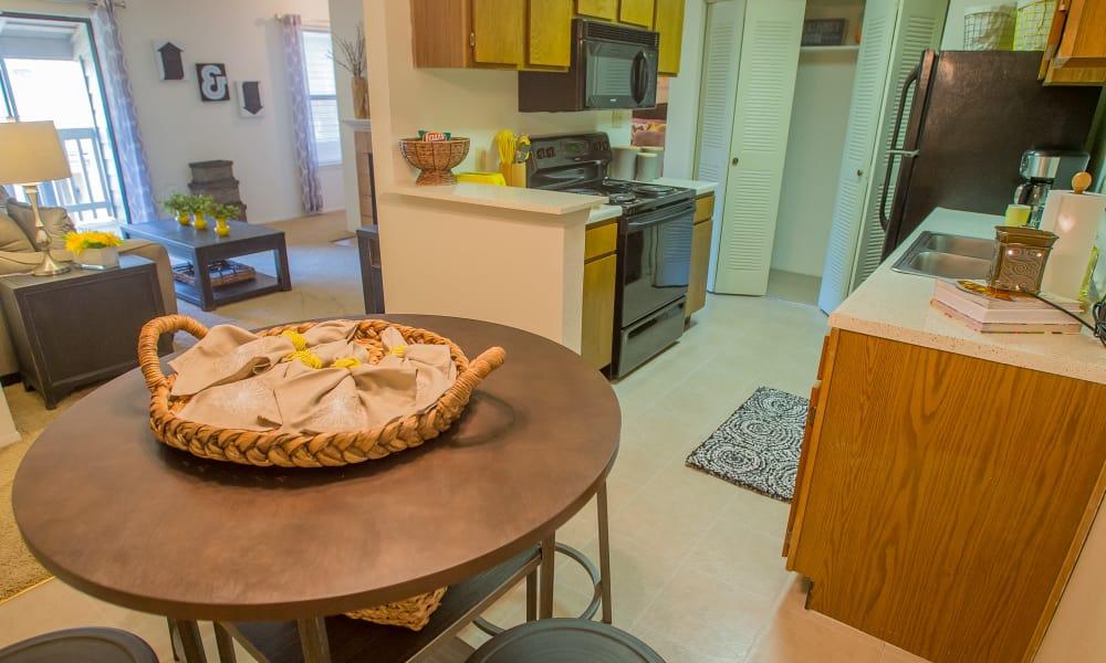 Dining room at Cedar Glade Apartments in Tulsa, Oklahoma