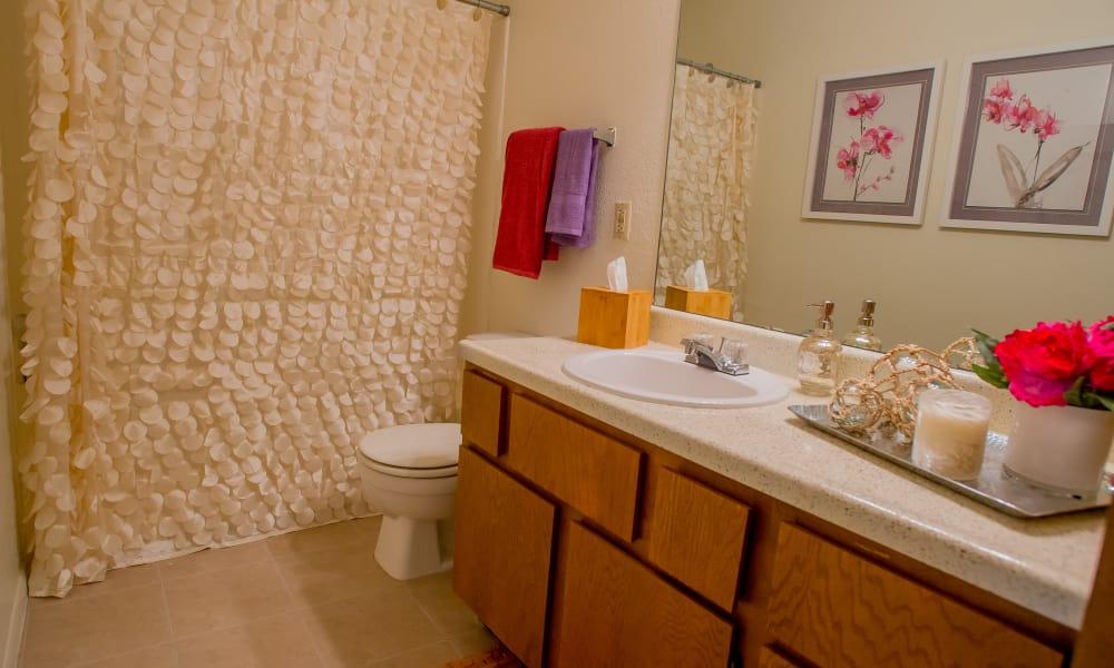 Large bathroom at Cedar Glade Apartments in Tulsa, Oklahoma
