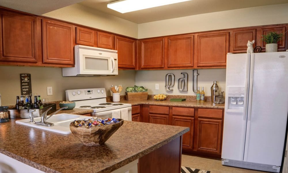 Modern kitchen at Colonies at Hillside in Amarillo, Texas