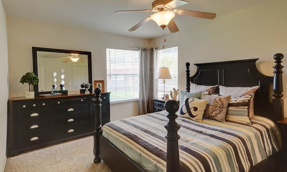 Luxury bedroom at Colonies at Hillside in Amarillo, Texas